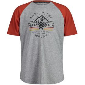 Maloja BlaubeereM. Short Sleeve Multisport Jersey Men, szary/czerwony
